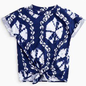 J. Crew CrewCuts Girls Size 3 Blue Tie-Dye T-Shirt